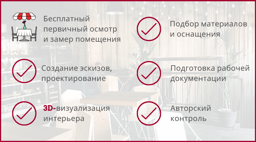 дизайн ресторана под ключ