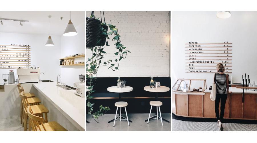 кофейня в стиле минимализм